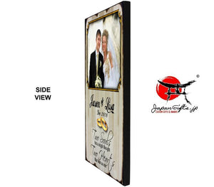 "(MEDIUM) Vertical 11"" x 17"" Wood Wall Photo Plaque #PP-V1117-100"