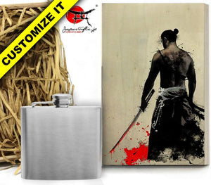 SMALL) 5oz Metal Hip Flask w/Box #HF-S001-WB