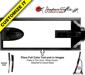 "(SMALL) 23"" Standing Desk Sword Full Color Base DS-S035-STA"