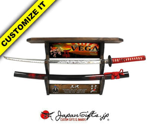 "(LARGE) Sword & (Extended) Wall Mantel 25""W x 15""H #WM-LS-01"