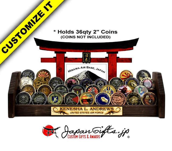 (LARGE) Coin Rack Torii with Plate 4-Tier w/Plate #CRT-BP-001