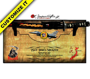 "Small Sword 23"" x 11"" Wall Plaque ""Removable Sword"" #SW-S027-R"