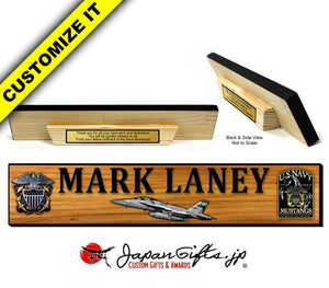"3"" x 16"" Wood Desk Name Bar Display #WD-NB316-006"