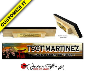 "3"" x 16"" Wood Desk Name Bar Display #WD-NB316-002"