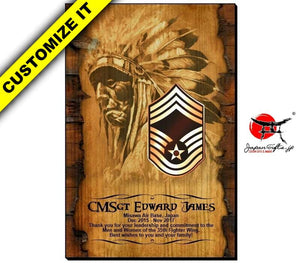 Vertical Wood Wall Plaque #WP-VSOPT-001