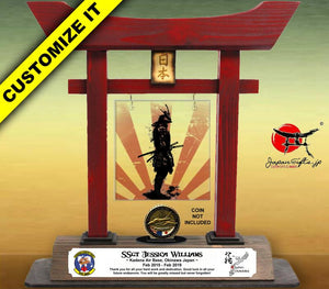 "(LARGE) 14"" Torii w/Acrylic Center/Coin Holder #T-L018-AC"
