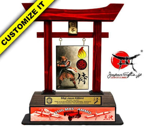 (LARGE) Red Torii Gate w/Color bottom image, #T-L090-CBI