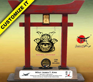"(LARGE) 14"" Torii w/Acrylic Center/Coin Holder #T-L023-AC"