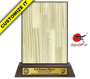 "6"" x 8"" Wood Desk Plaque #W-DP68-03"