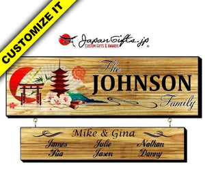 "23"" x 7"" Family Sign w/Drop Down #FS-L23-WDD-01"