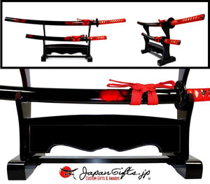 Double Desk Sword Set  w/Base #DD-SS-01-AC