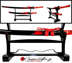 "Double Desk Sword Set ""CUSTOMIZED"" w/Base TEST#222"