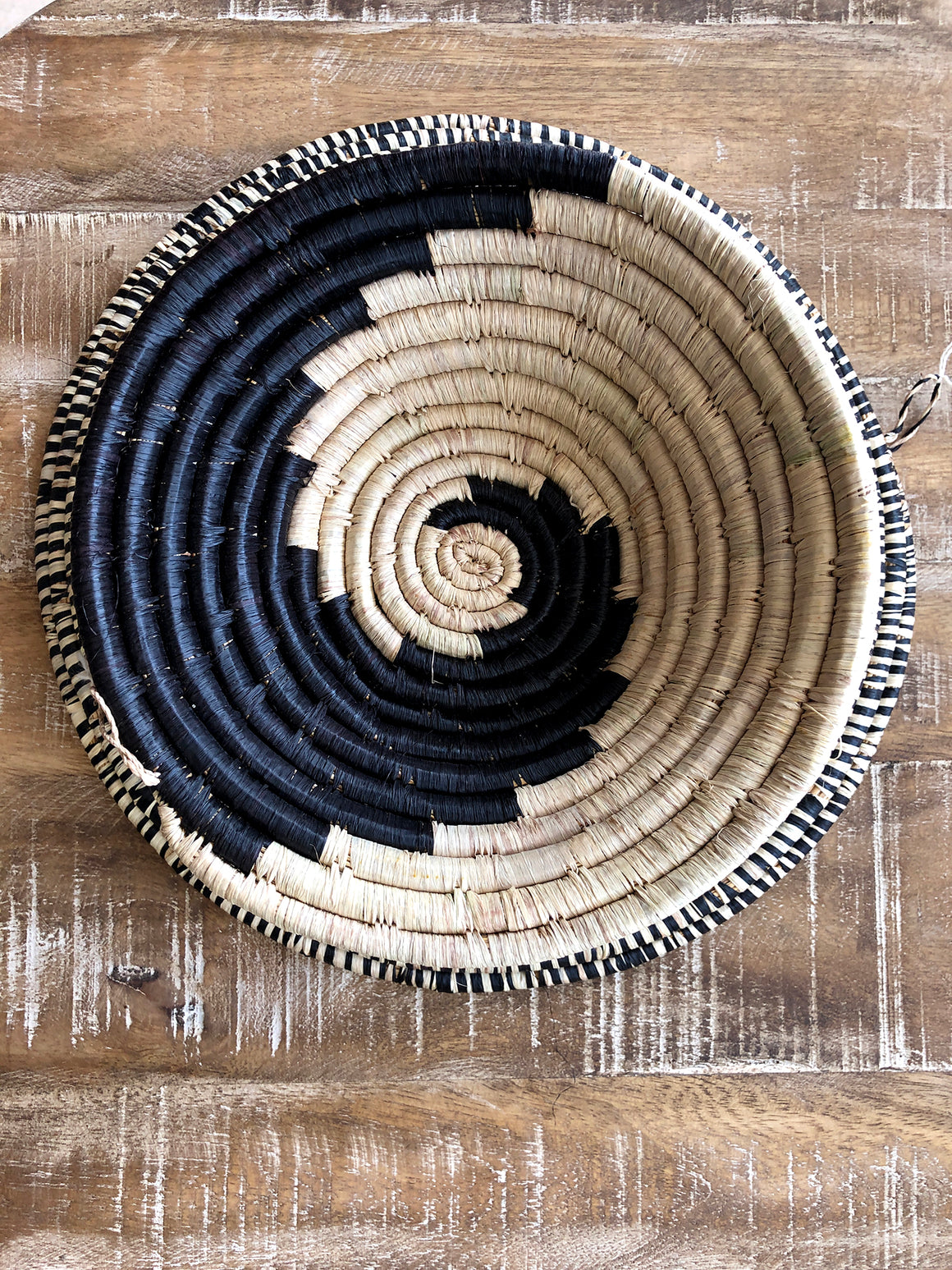 African woven bowl