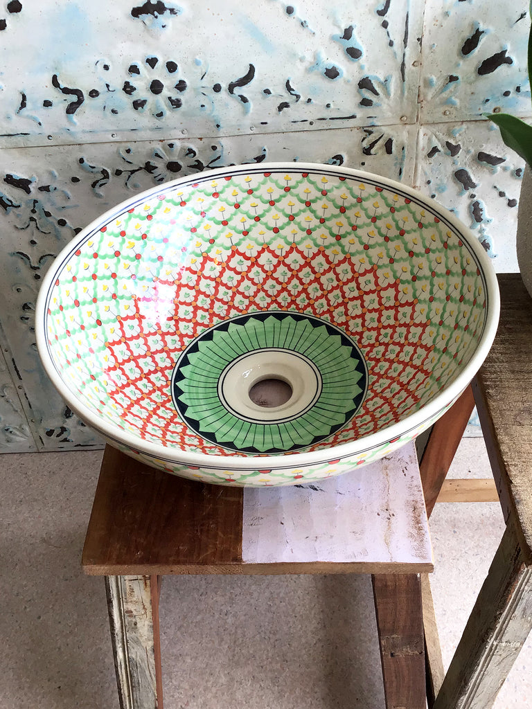 Hand painted ceramic Sink