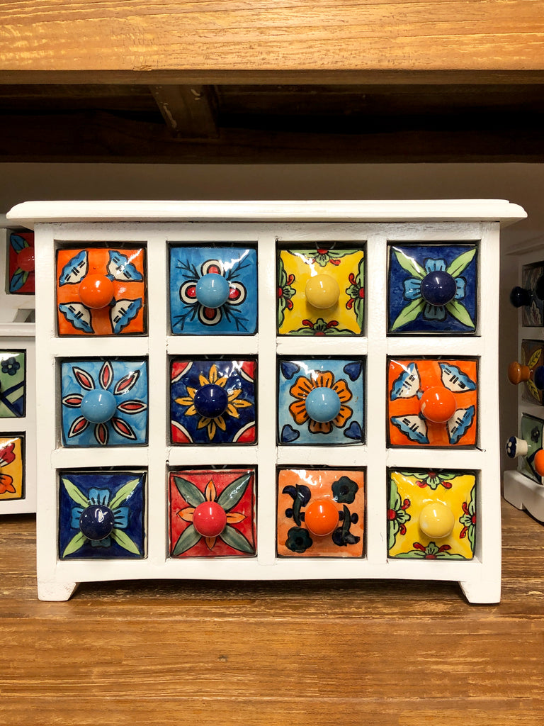 12 drawer miniature set