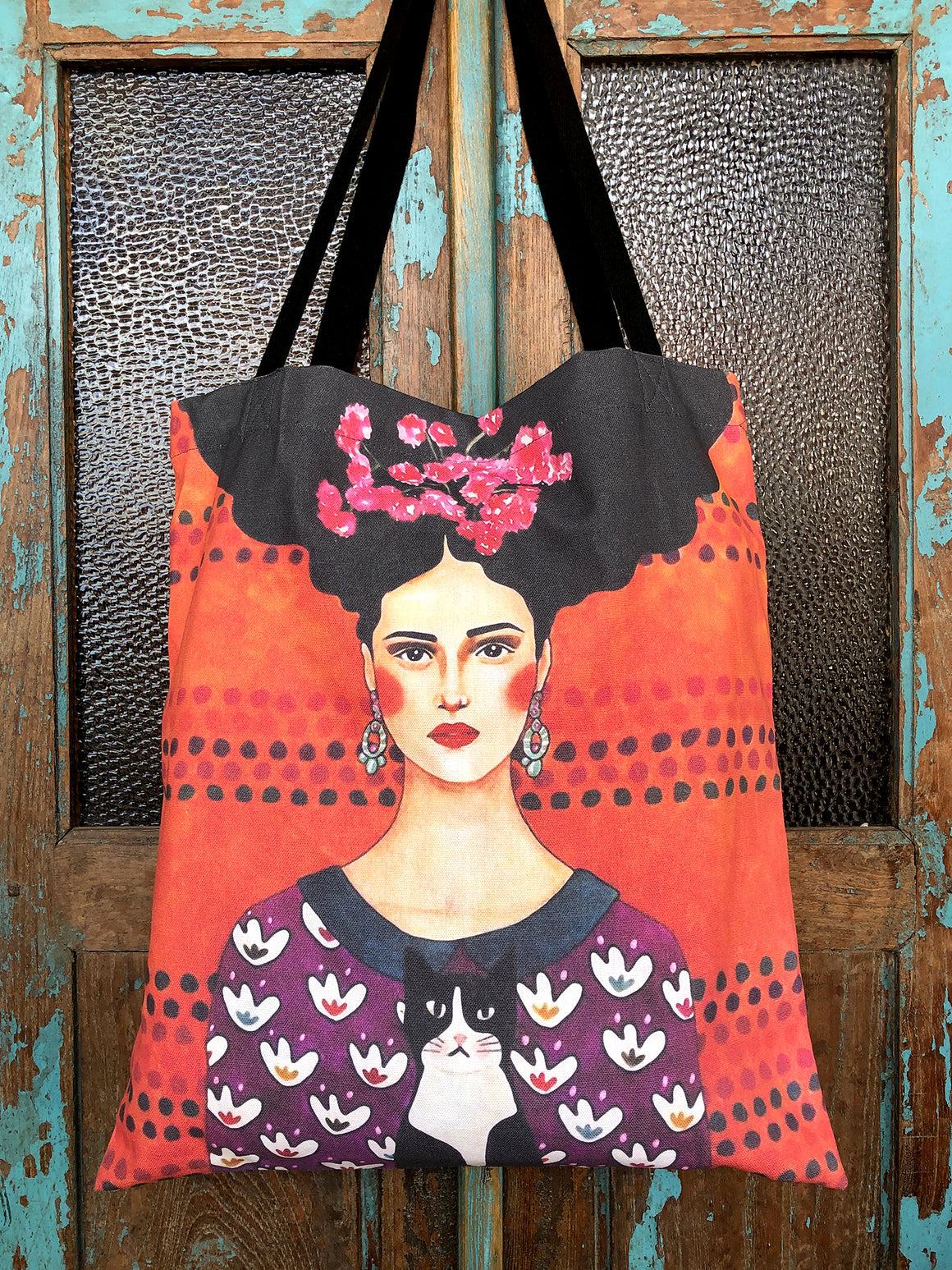 Frida cotton shopping bag