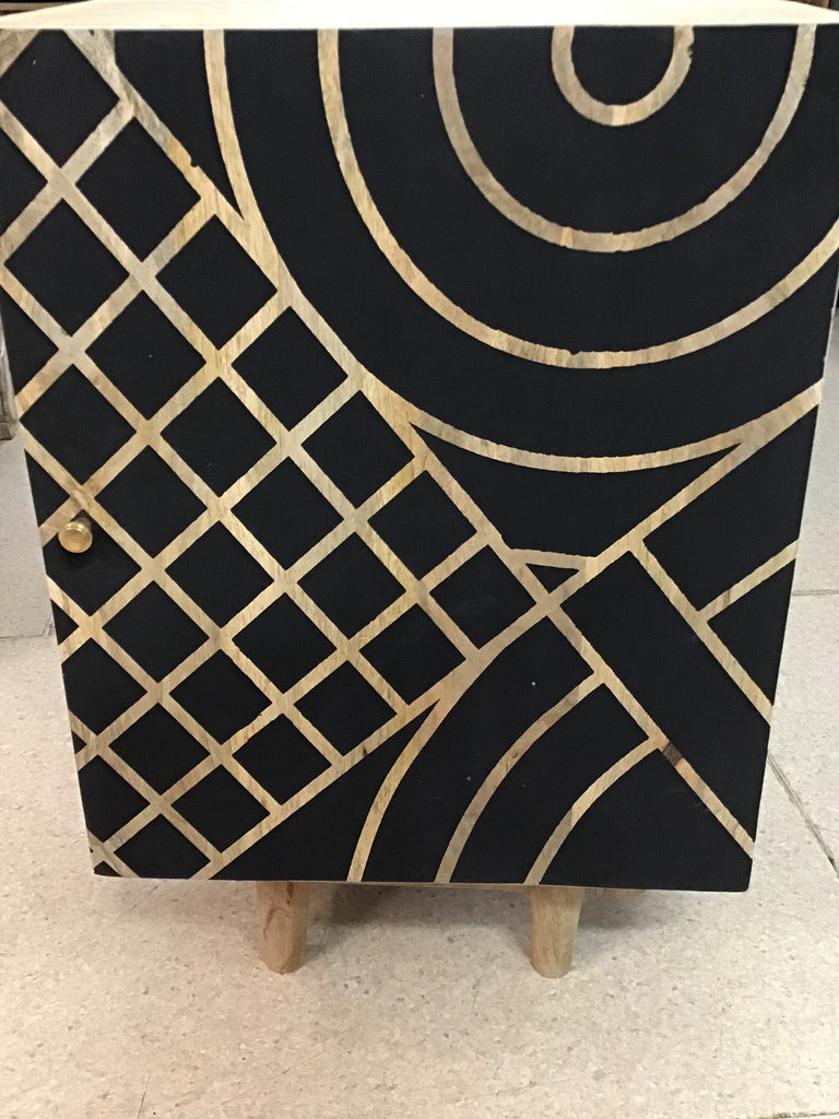 Geometric bedside table