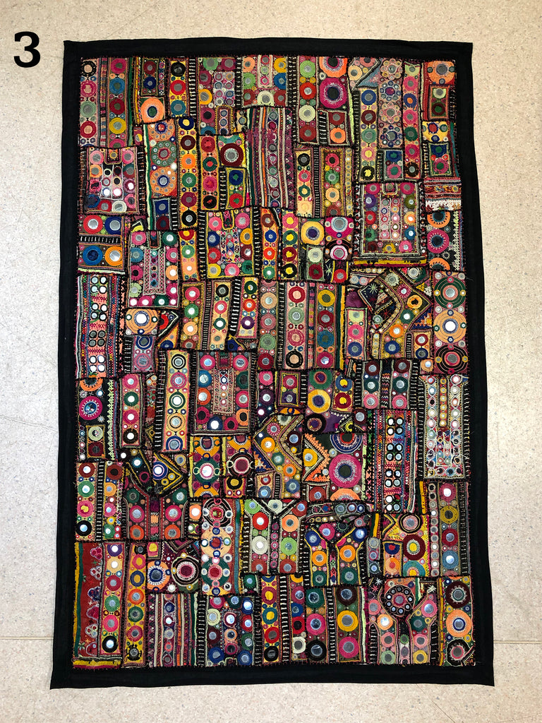 Vintage fabric wall hanging