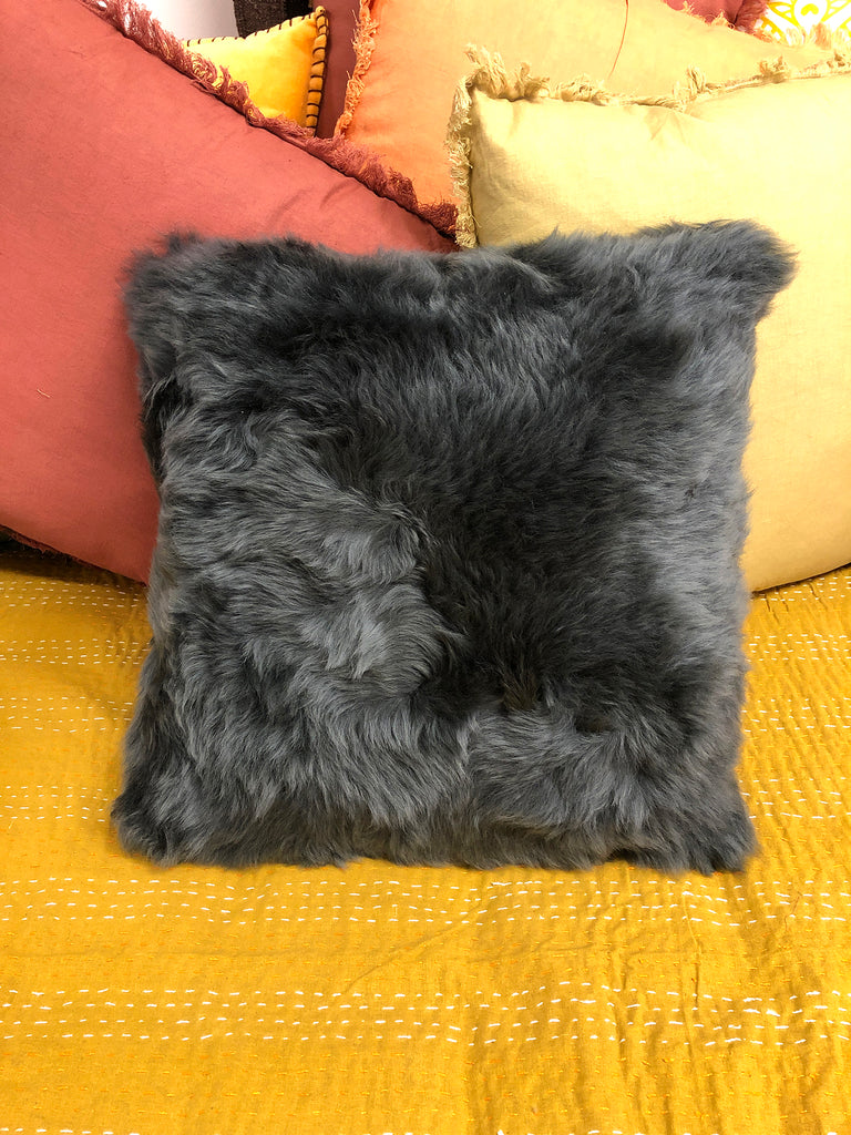 Sheep skin cushion
