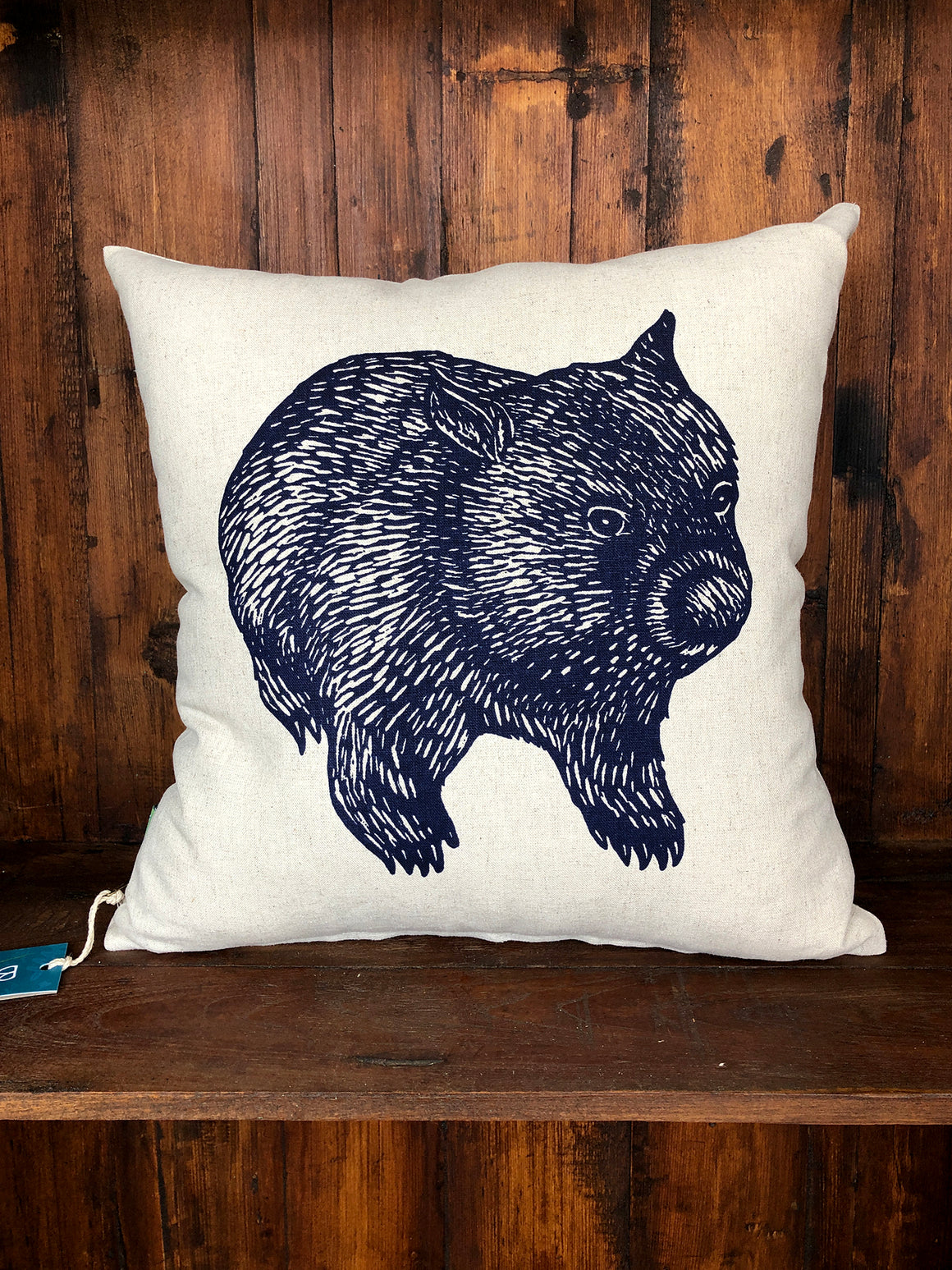 Bursaria wombat cushion