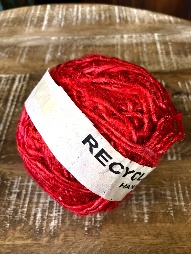 Recycled banana silk