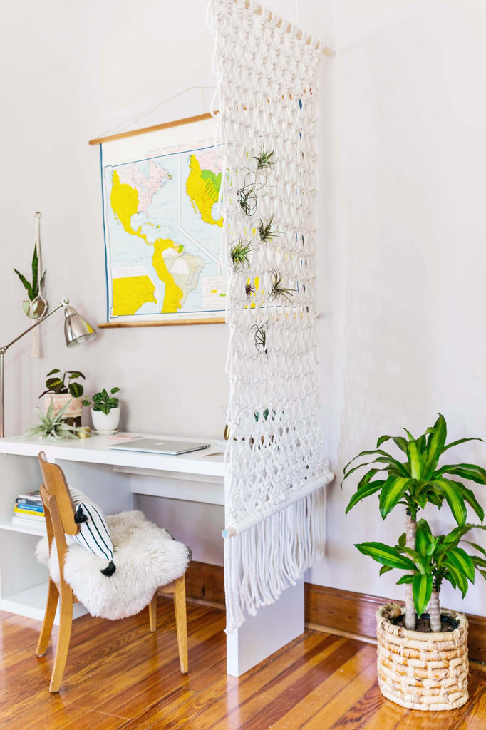 A Beautiful Mess Macrame Room Divider