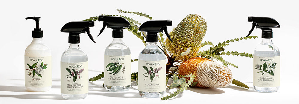 The beautiful environmentally friendly safe cleaning products of Koala Eco