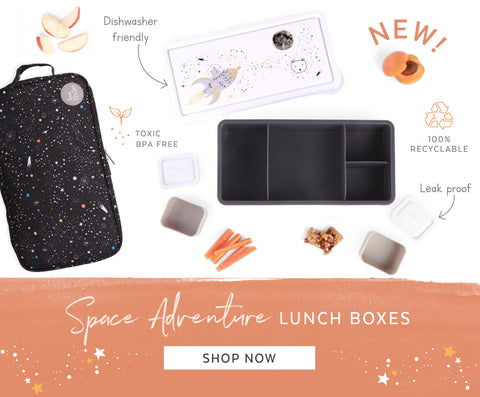 kids bento box lunch box space adventure planets boys