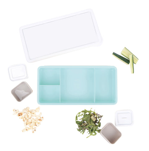Lunch Box - Blue Base (white lid)
