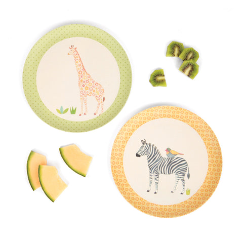 Love_Mae_Bamboo_Plates_Safari_Jungle_Eco-Friendly_Children's_Dinnerware