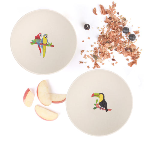 4pk Bowls - Toucan and Macaw