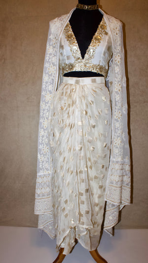 White Banarsi set