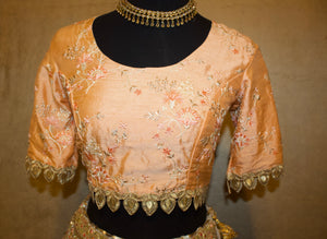 Orange Threadwork Blouse