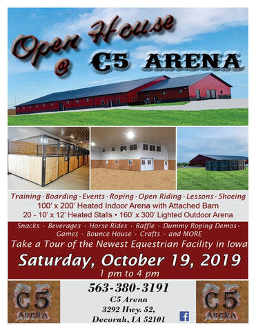 C5 Arena is Iowa's Newest Equine Facility Proudly Sponsored by Broker Leather