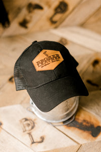 Clarence Black on Black Ball Cap Pony Hat