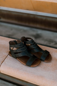 Roan Studded Charla Sandals [Grey-Black] |SALE|