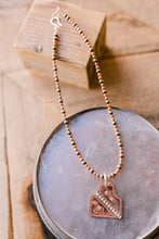 James Copper Tag Necklace