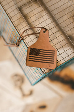 Old Glory Leather Air Freshener