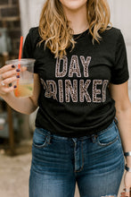 Day Drinker Leopard Graphic Tee