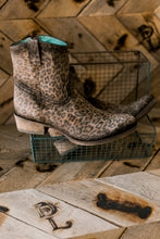 Corral Midnight & Whiskey Leopard Print Zippered Boots