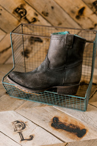 Corral Fire & Gasoline Grey Ovine Leather Boots