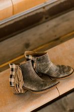 Macie Bean Buffalo Bill Plaid Fringed Booties