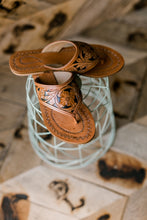 Sin Wagon Tooled Leather Sandals |SALE|