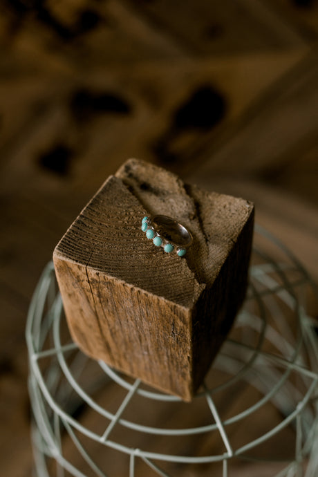 Kingman 6-Stone Genuine Turquoise Stacker Ring