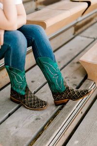 Macie Bean Nitty Gritty Sea Bass Print Boots