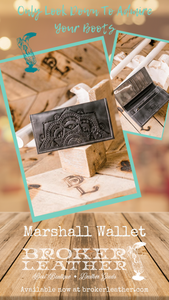 Marshall Tooled Mandala Genuine Leather Wallet