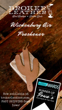 Wickenburg Refillable Leather Car Air Freshener