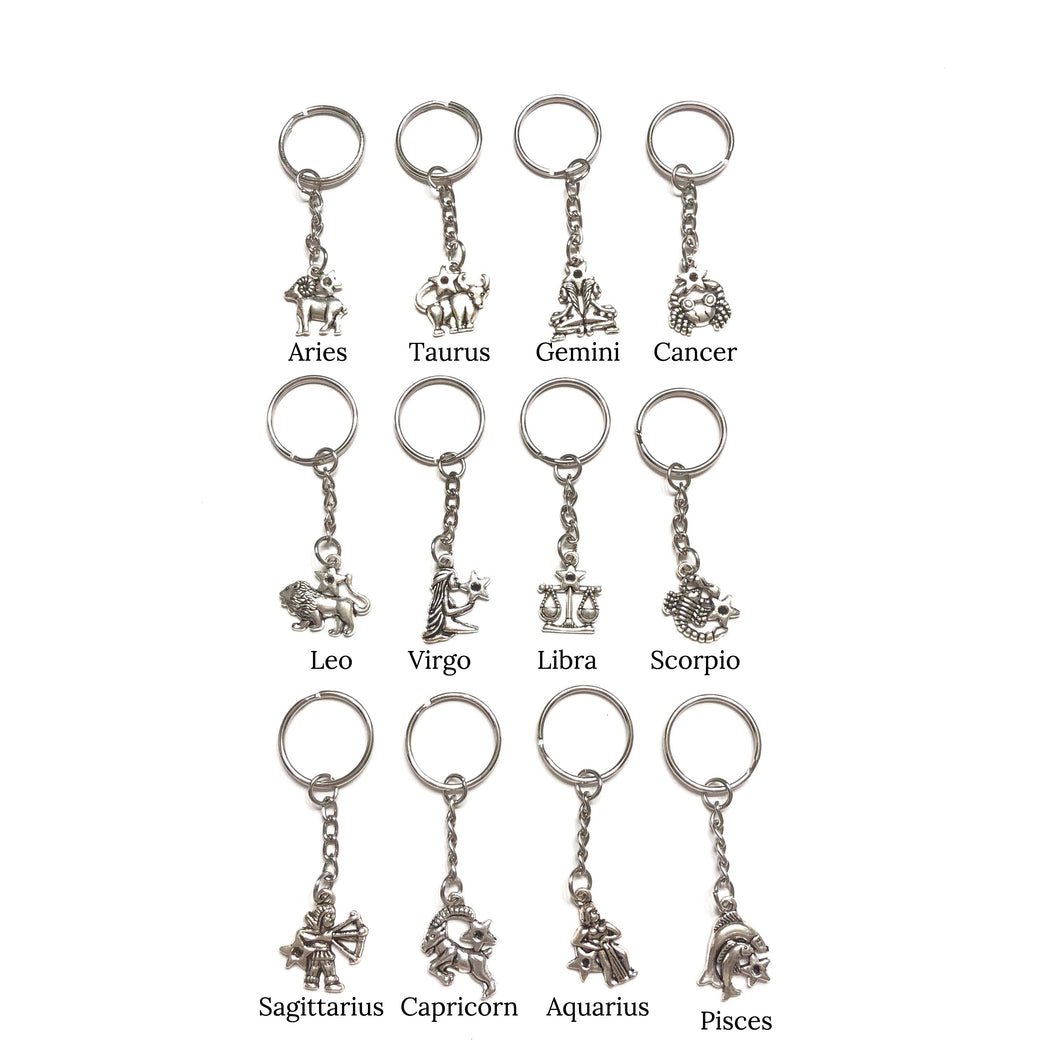 Astrology Sign Keychain - Sun & Co.