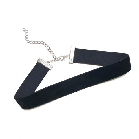 Thick Black Velvet Choker - Sun & Co.