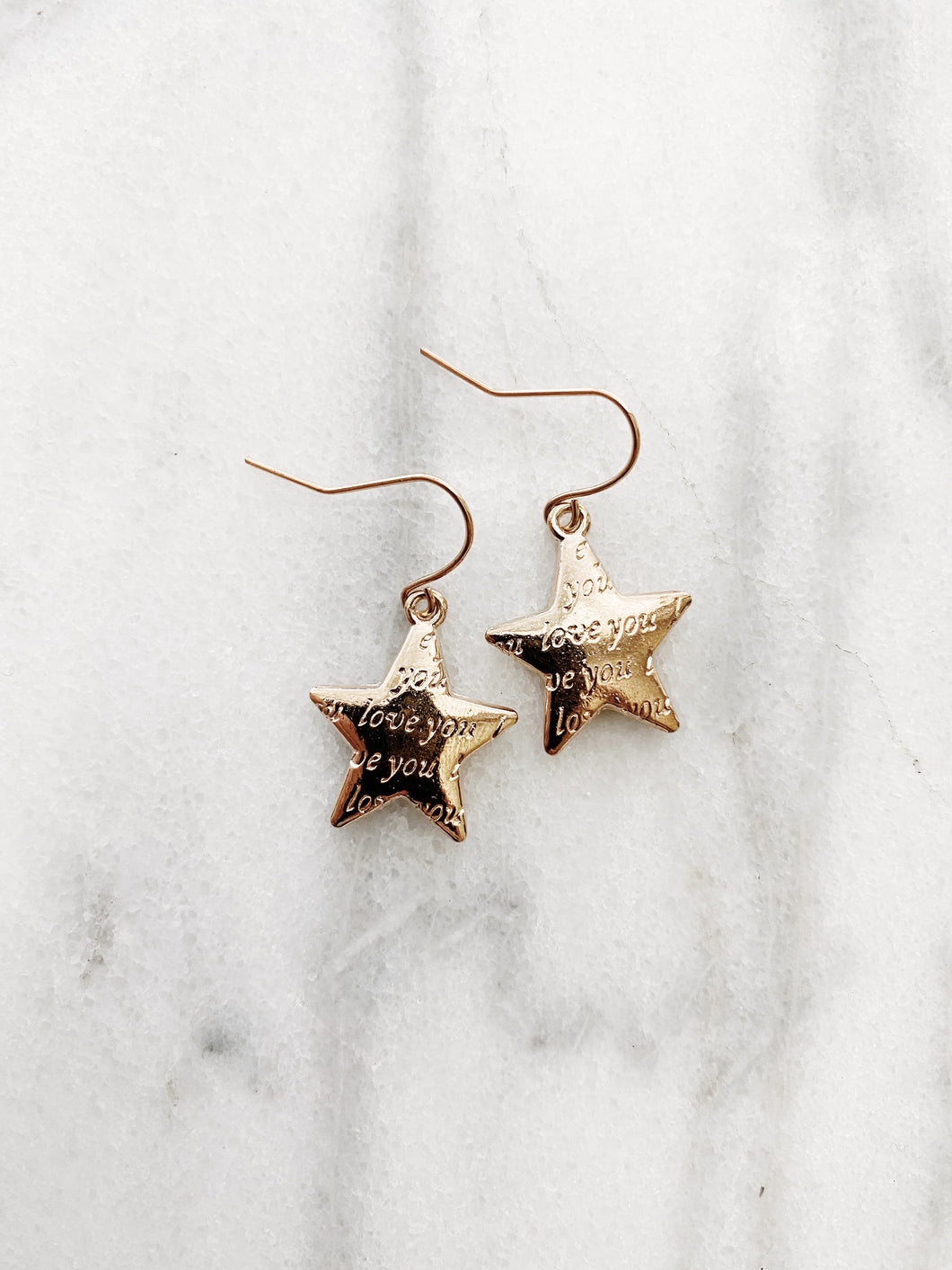 Love You Star Earrings